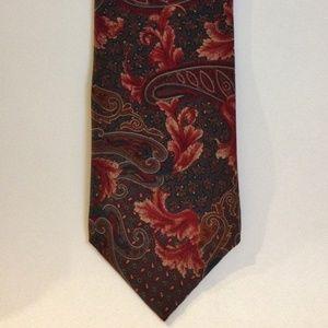 Mallory & Church Ltd Accessories - Mallory & Church Floral Paisley Neck Tie 100% Silk